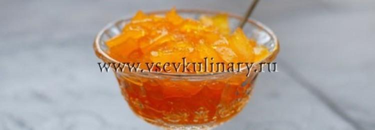 Янтарное тыквенное варенье с апельсином