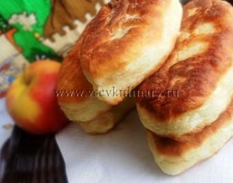 Жареные пирожки на кефире, рецепт с фото