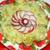 Вареная картошка в укропном соусе