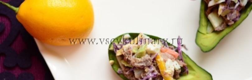 Классический рецепт мясного салата