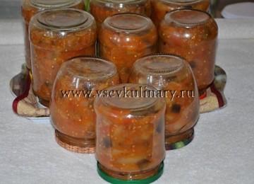 Консервируем вкусный салат из баклажан Десяточка