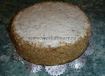 Бисквитный торт: рецепт с клубничным вареньем