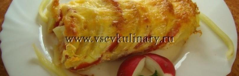 Кабачки и картофель с помидорами в духовке