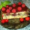 Пирог с малиной и вишней