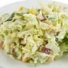 Салат из квашеной капусты и вареной колбасы