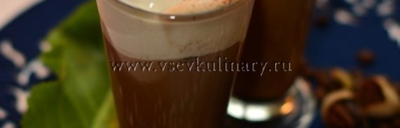 Гляссе с кофейным льдом