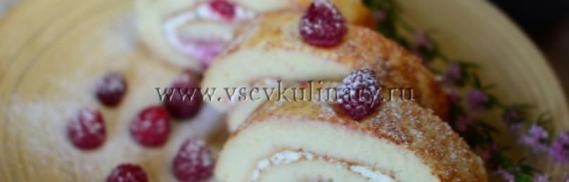 Рецепт бисквитного рулета в домашних условиях