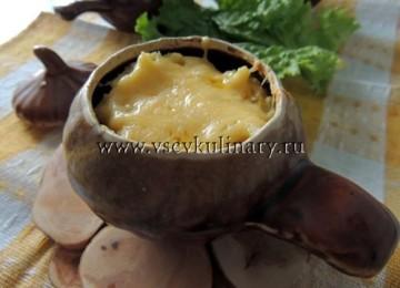 Картофель с сыром в горшочках в духовке
