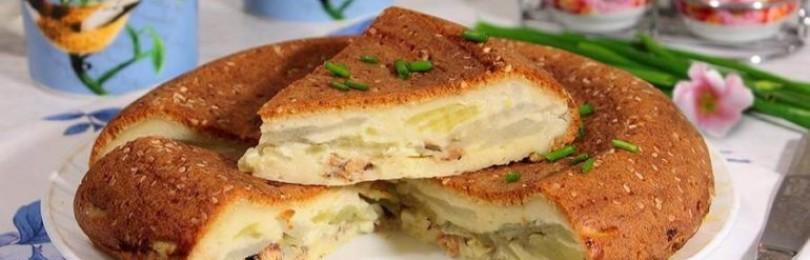 Быстрый пирог с консервами из рыбы: рецепт приготовления