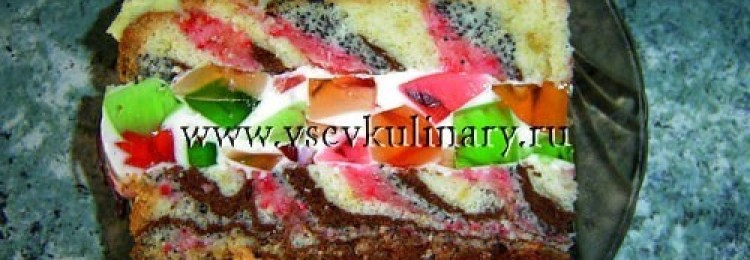 Разноцветный торт
