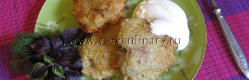 Картофельные драники с фаршем (колдуны)