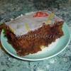 Простой шоколадный торт с орехами