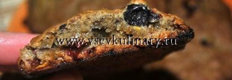 Овсяное тыквенное печенье с ягодами