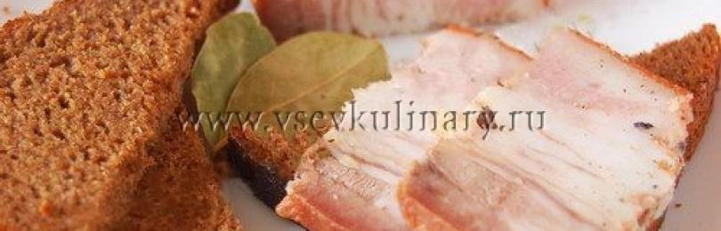 Пошаговый рецепт грудинки в луковой шелухе
