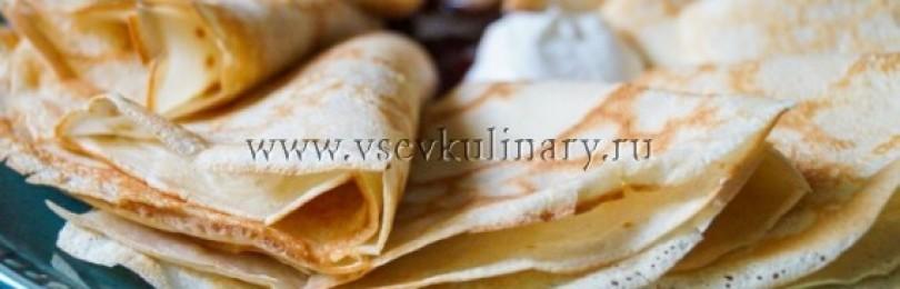 Блины на кефире – рецепт тонкие и с дырочками