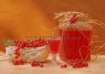 Наливка из красной смородины на водке