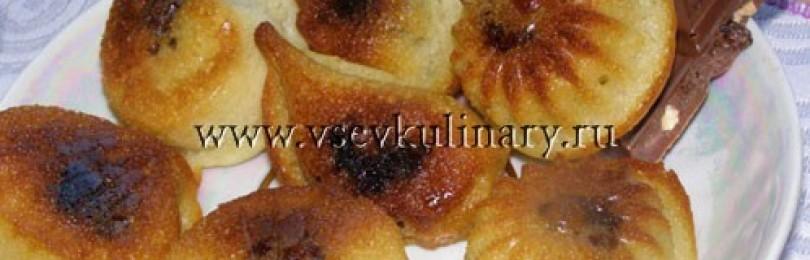 Бисквитные кексы с начинками
