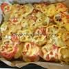 Картофель с помидорами и сыром в духовке