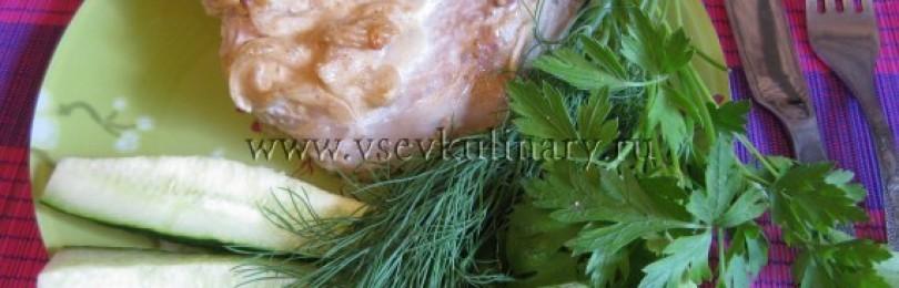Антрекоты из свинины в духовке