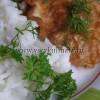 Свиные отбивные в кляре с соевым соусом