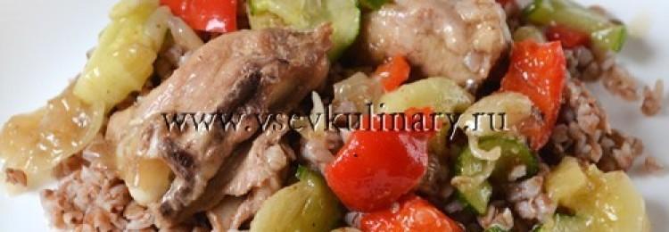 Необычный рецепт гречки с курицей и сладким перцем