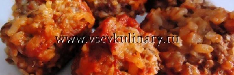"""Рецепт тефтелей с рисом """"Ежики"""""""
