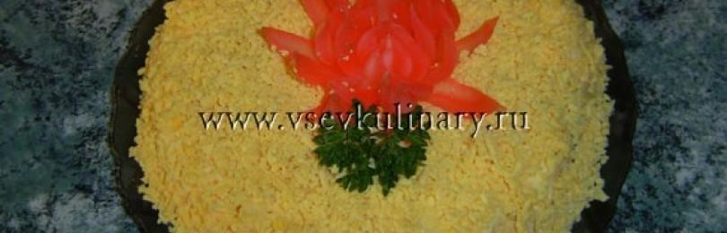 Салат из консервированных сардин