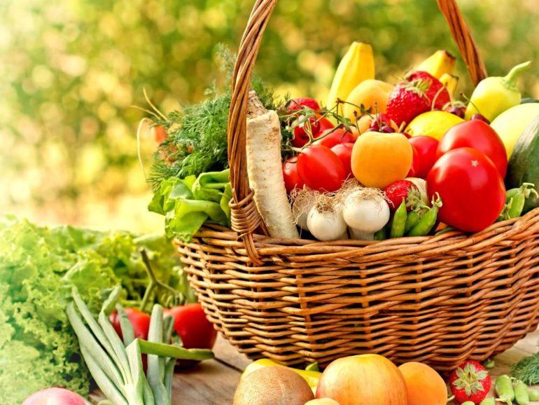 Корзина с овощами