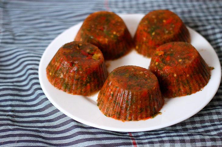 Томатный соус из помидоров и сладкого перца — заморозка на зиму